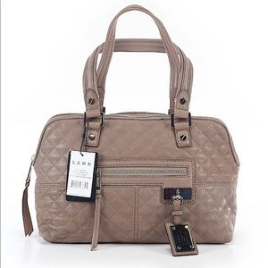 NWT L.A.M.B Marlene Quilted Satchel In Slate